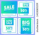 sale promotion banners for... | Shutterstock .eps vector #1433085359