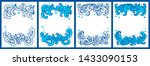 water splash copy space card... | Shutterstock .eps vector #1433090153