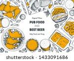 pub food and beer vector... | Shutterstock .eps vector #1433091686