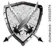 heraldic design with shadowed... | Shutterstock .eps vector #143310574