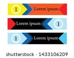 abstract banners with various... | Shutterstock .eps vector #1433106209