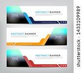 web banner template  vector... | Shutterstock .eps vector #1433109989