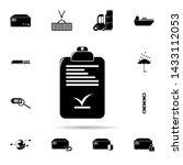 checklist icon. universal set...