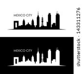 mexico city skyline   vector... | Shutterstock .eps vector #143311276