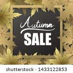 autumn frame border banner with ... | Shutterstock .eps vector #1433122853