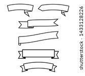 set of ribbons banner  outline... | Shutterstock .eps vector #1433128226