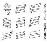 set of ribbons banner  outline...   Shutterstock .eps vector #1433128229