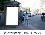 advertising mockup for ad... | Shutterstock . vector #1433129399