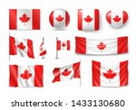 various canada flags set... | Shutterstock .eps vector #1433130680
