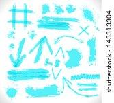 highlighter grunge design... | Shutterstock .eps vector #143313304