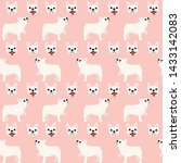 french bulldog pattern... | Shutterstock .eps vector #1433142083