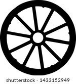 Vector Silhouette Of Wagon...
