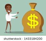 cartoon black african american... | Shutterstock .eps vector #1433184200