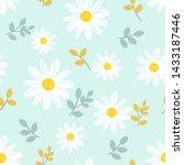 Daisy Seamless Pattern  White...
