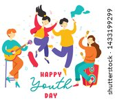 happy international youth day.  ... | Shutterstock .eps vector #1433199299