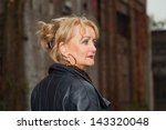 pretty middle aged woman with... | Shutterstock . vector #143320048