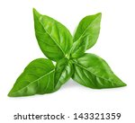 leaves of basil isolated on... | Shutterstock . vector #143321359
