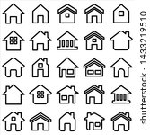 set of home icon. symbol of...   Shutterstock .eps vector #1433219510