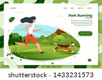 vector illustration   girl with ... | Shutterstock .eps vector #1433231573