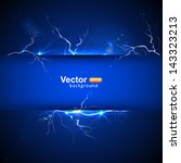 blue plate under voltage  the... | Shutterstock .eps vector #143323213