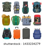 Backpack Camp Vector...