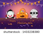 halloween party  confetti and... | Shutterstock .eps vector #1433238380