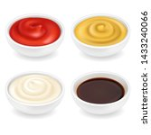 realistic 3d ketchup  french... | Shutterstock .eps vector #1433240066