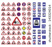 elegant traffic signs set... | Shutterstock .eps vector #143324014