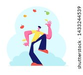 man juggling with different... | Shutterstock .eps vector #1433244539