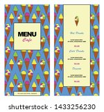 menu template for cafe ... | Shutterstock .eps vector #1433256230