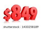 849  eight hundred forty nine... | Shutterstock . vector #1433258189