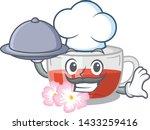 chef with food rosehip tea... | Shutterstock .eps vector #1433259416