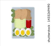 isolated vector food images.... | Shutterstock .eps vector #1433269490