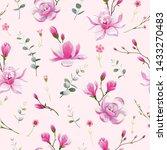 seamless floral pattern... | Shutterstock .eps vector #1433270483