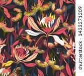 modern seamless vector  with... | Shutterstock .eps vector #1433271209