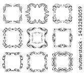 set of vintage frames on white... | Shutterstock . vector #1433283059