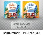summer template with car and... | Shutterstock .eps vector #1433286230