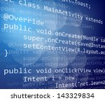 java programing code on dark... | Shutterstock .eps vector #143329834
