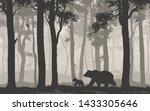 seamless horizontal vector... | Shutterstock .eps vector #1433305646
