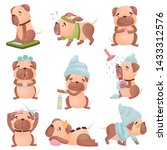 set of images of cartoon dogs... | Shutterstock .eps vector #1433312576