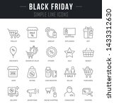 collection linear icons of... | Shutterstock .eps vector #1433312630