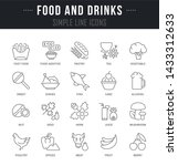 collection linear icons of food ... | Shutterstock .eps vector #1433312633