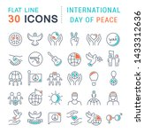 set of vector line icons of... | Shutterstock .eps vector #1433312636