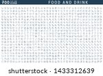 set of vector line icons of... | Shutterstock .eps vector #1433312639