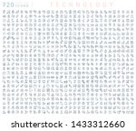 set of vector line icons of... | Shutterstock .eps vector #1433312660