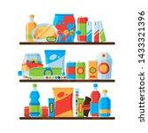food shelves. snack crisp cold... | Shutterstock .eps vector #1433321396
