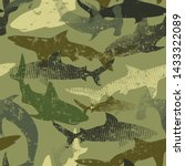 Seamless  Camouflage Shark...