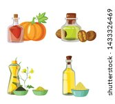 isolated object of bottle and... | Shutterstock .eps vector #1433326469