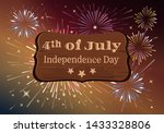 american independence day.... | Shutterstock .eps vector #1433328806