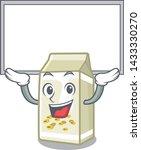up board soy milk in a cartoon... | Shutterstock .eps vector #1433330270